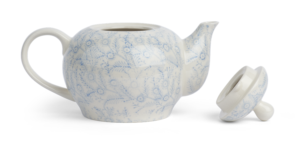 Olney Teapot - Flax Blue 2
