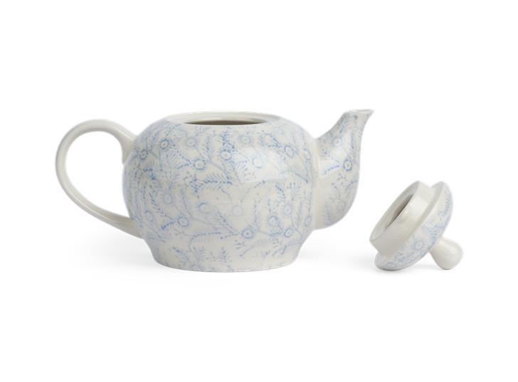 Olney Teapot - Flax Blue 2