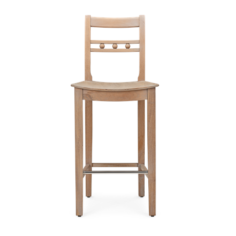 Suffolk Bar Stool_Seasoned Oak_Front