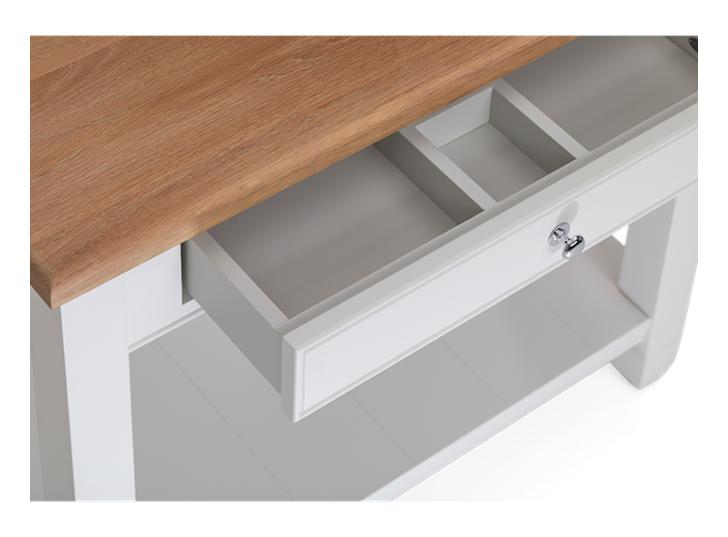 Chichester 850 Oak Countertop Washstand -Shell-Shell Detail 02