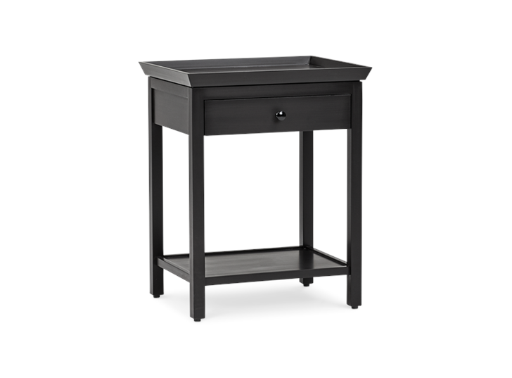 Aldwych tall side table Warm Black 3quarter