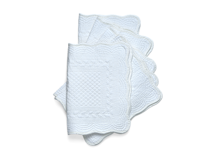 Emily Quilted Placemats Set of 6 Salt_Stack