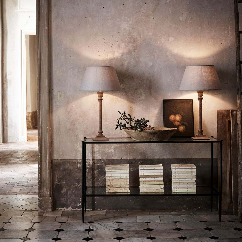 Symmetrical Console Table Styling Harry Cloud Lampshades