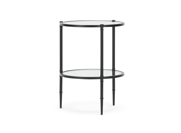 Coniston 42 Tall Round Side Table Black Bronze_3Quarter