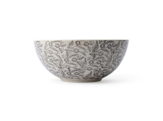 Olney serving bowl, Small - Walnut, side