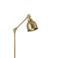 Brompton Reading Floor Lamp, Antique Brass