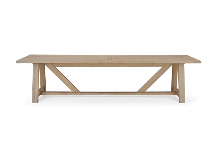 Arundel 305 Rectangular Table_ Natural Oak_Front