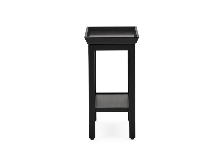 Aldwych rectangular side table Warm Black side