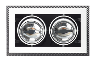 Coates Recessed ceiling AR70 light, double