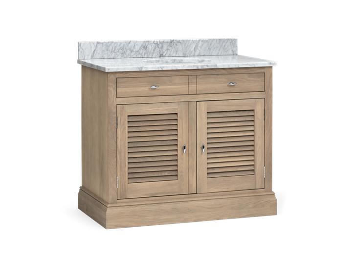 Edinburgh 1000 Dbl Undermount Washstand With Basin-D-Door-VO-Vintage Oak 3Q