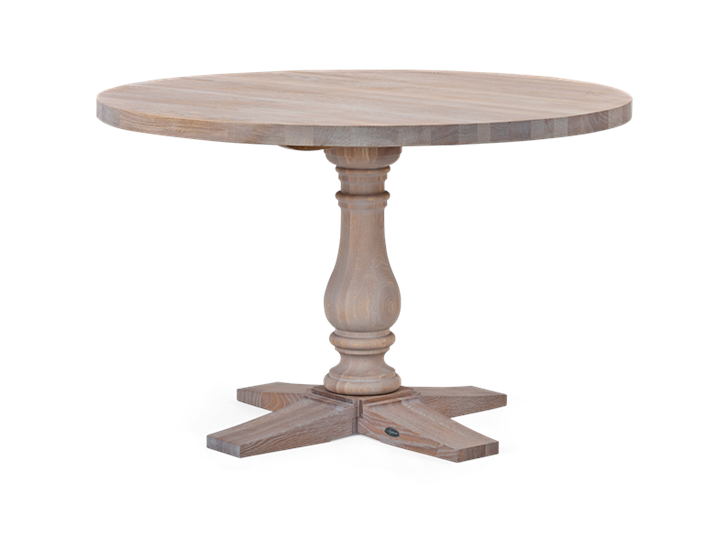 Balmoral 120 Round Table_Seasoned Oak_3Quarter