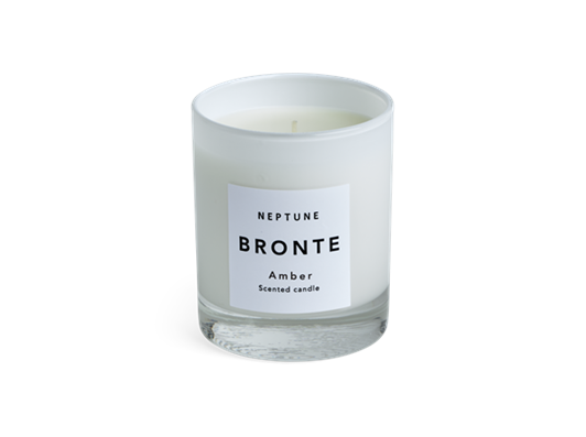 Bronte Amber Scented Candle, White