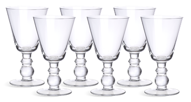 Greenwich White Wine Glasses, set of 6