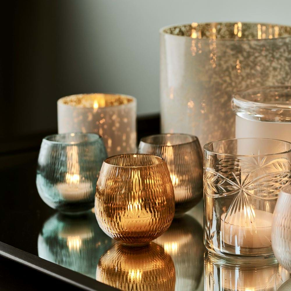 Neve Grey Tealight Holders