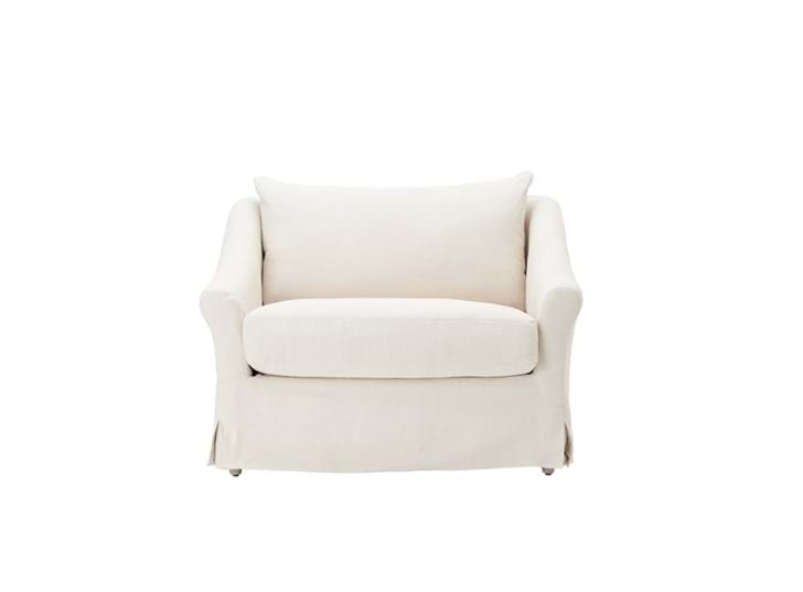 Long Island Love Seat Pale Oat_Front PR