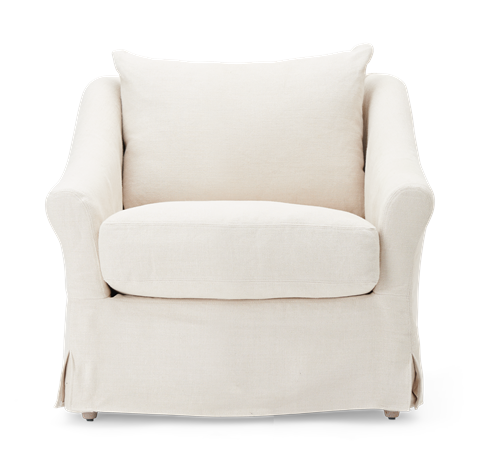 Long Island Armchair Pale Oat_Front