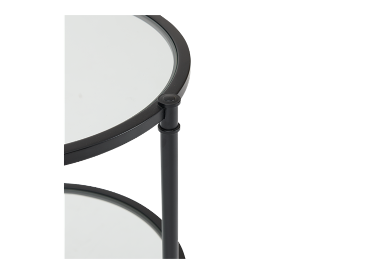 Coniston 42 Tall Round Side Table Black Bronze_Detail 3