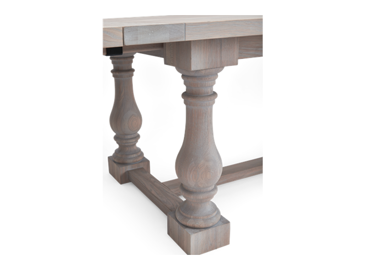 Balmoral 185-275 Extending Table_Seasoned Oak_Detail 1