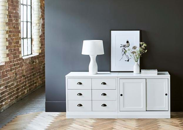 Chawton Double Sideboard - Snow
