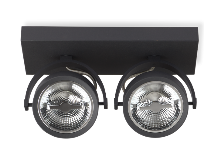 AR111 Surface Mounted Fixture Double Black 0