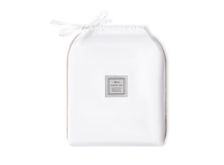 Albertine Flat Sheet Grey Oak King_Front