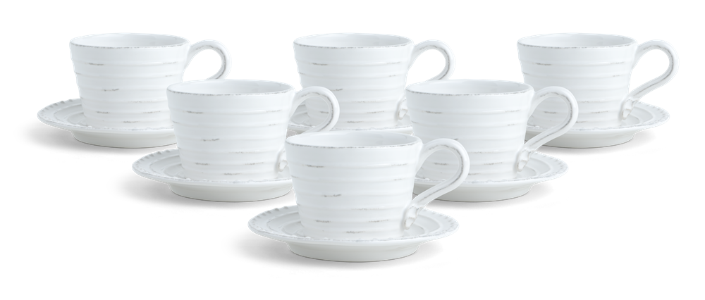 Bowsley Cup and Saucer Set of 6