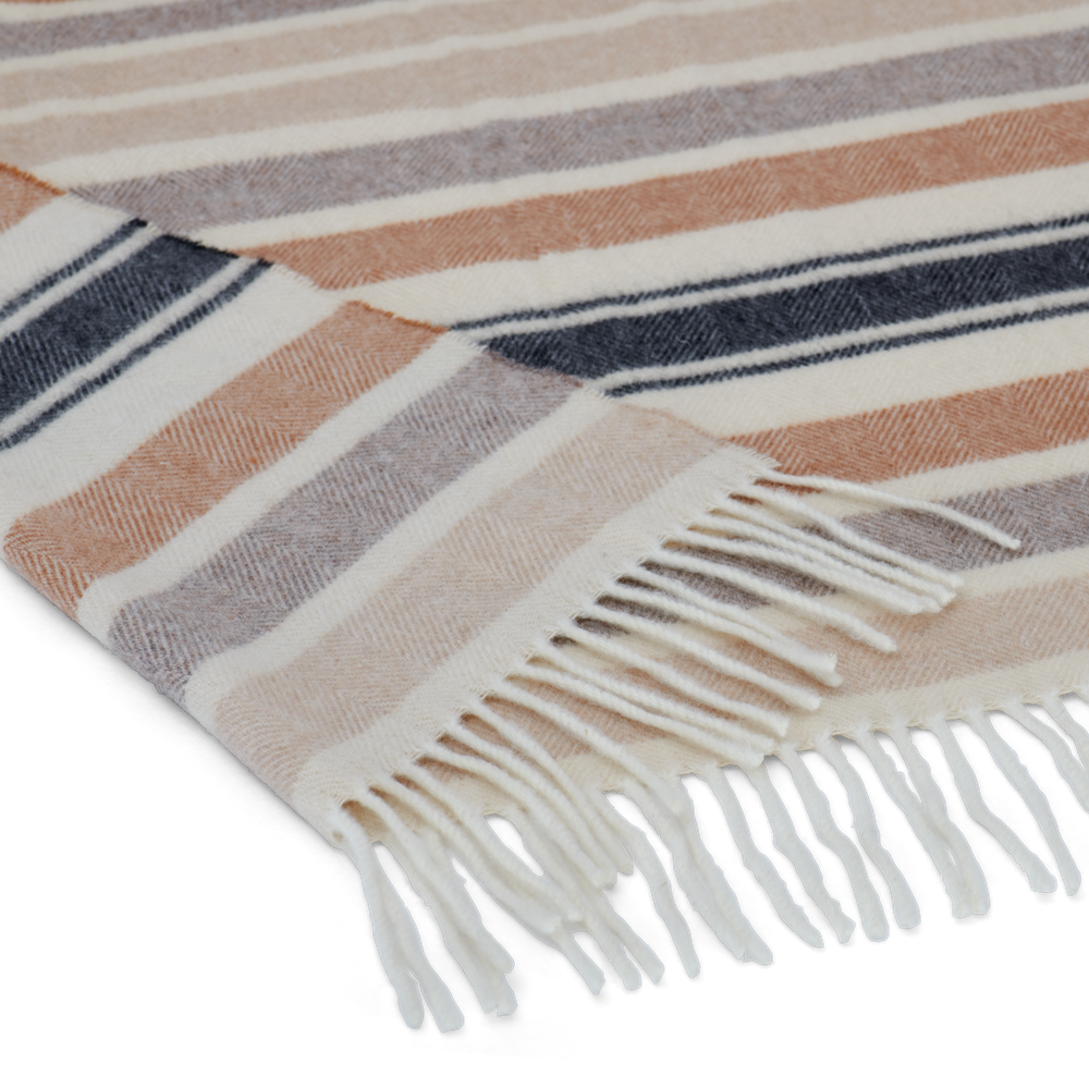 Castlefield Stripe Throw Mustard_Thickness Detail