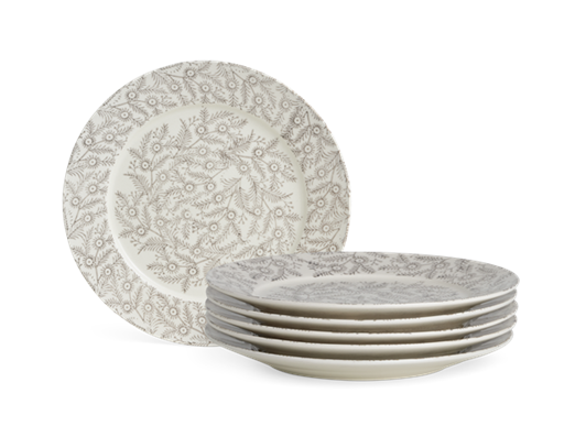 Olney Dessert Plate Set of 6 Walnut_Stack