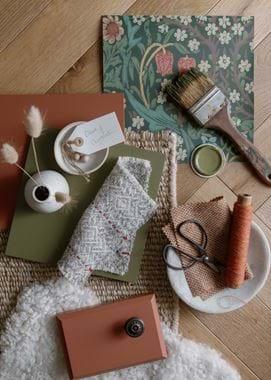 Olive-Chestnut mood board