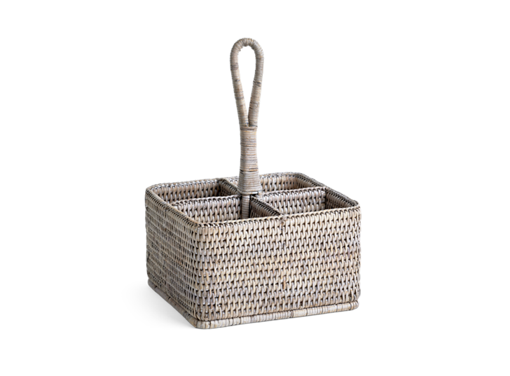 Ashcroft Cutlery and Condiment Basket_3Quarter