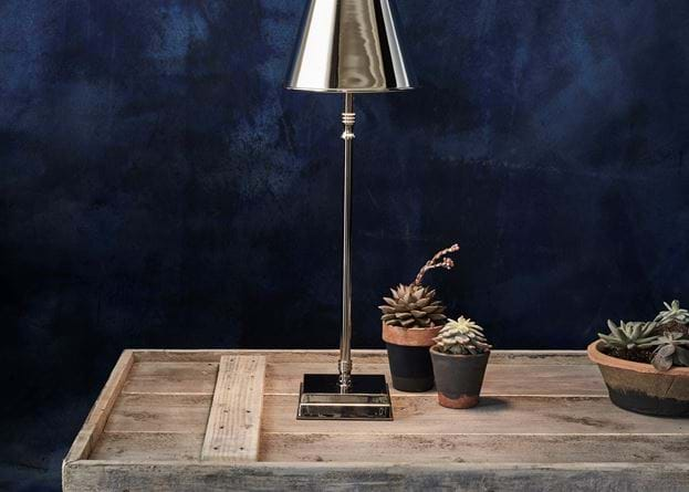Hanover Cordless Lamp Tall Nickel