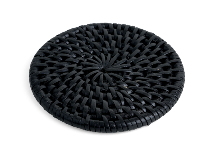 Ashcroft Round Coasters Set of 6 Charcoal_Front