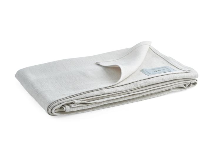 Ardel Linen Bedspread Large Natural_3Quarter Folded