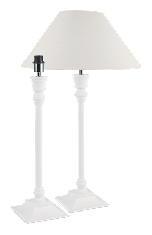 Fairfax Large White Lamp Stand & Shade