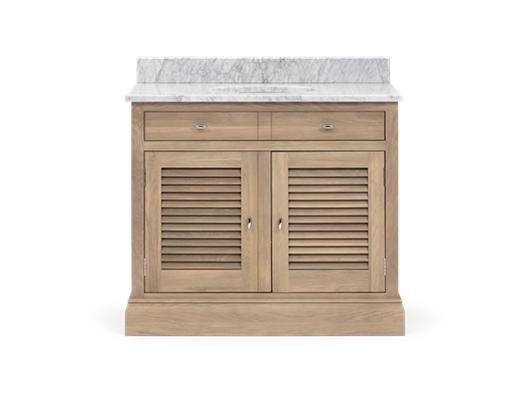 Edinburgh 1000 Dbl Undermount Washstand With Basin-D-Door-VO-Vintage Oak Front