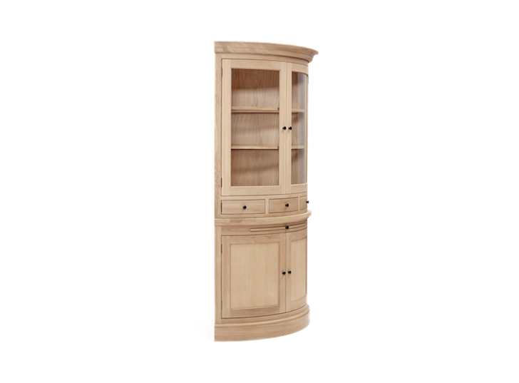 Henley Curved Oak Dresser Top Side