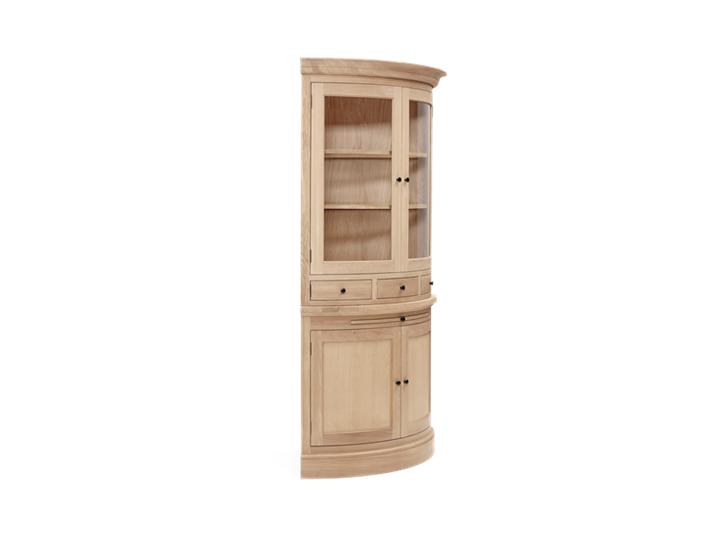 Henley Curved Oak Dresser Top Side