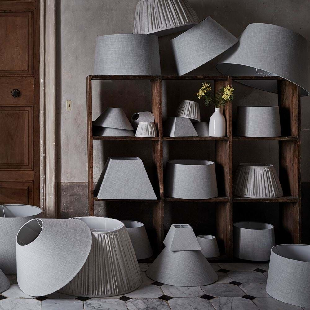 Harry cloud and Gathered Linen Lampshades
