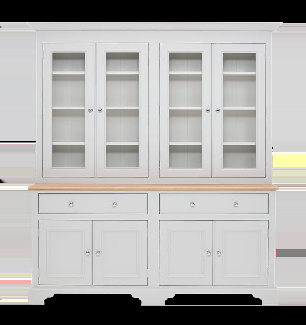 Chichester 6ft Glazed Rack Dresser Top