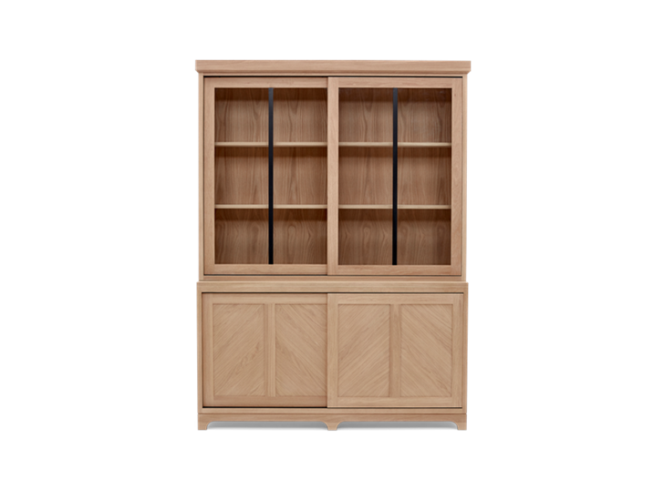 Holborn 5ft Glazed Dresser Natral Oak 001