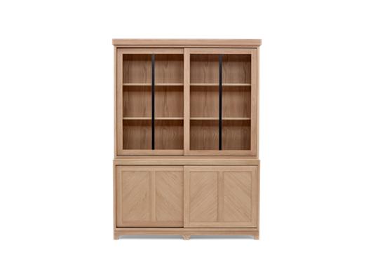 Holborn 5ft Glazed Dresser Natral Oak 001