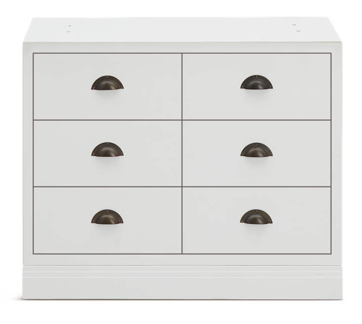 Chawton_3FT_6 Drawer base cabinet_Front.psd