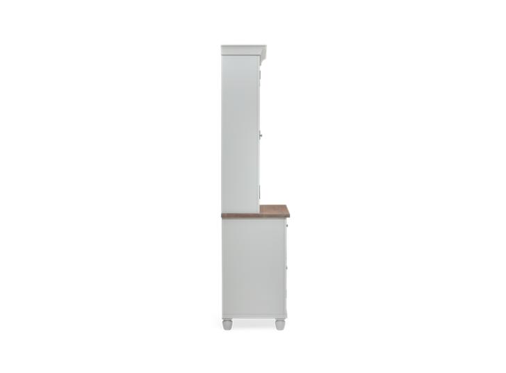 Suffolk 3ft Contemporary Dresser Silver Birch 3Q Open LIGHTS