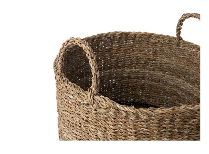 Redford log basket, large, handle