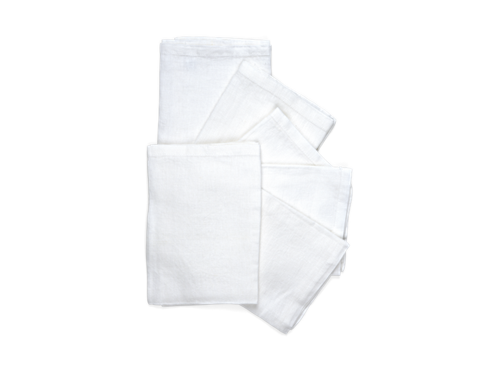 Emily Linen Napkins Set of 6 Salt_Stack