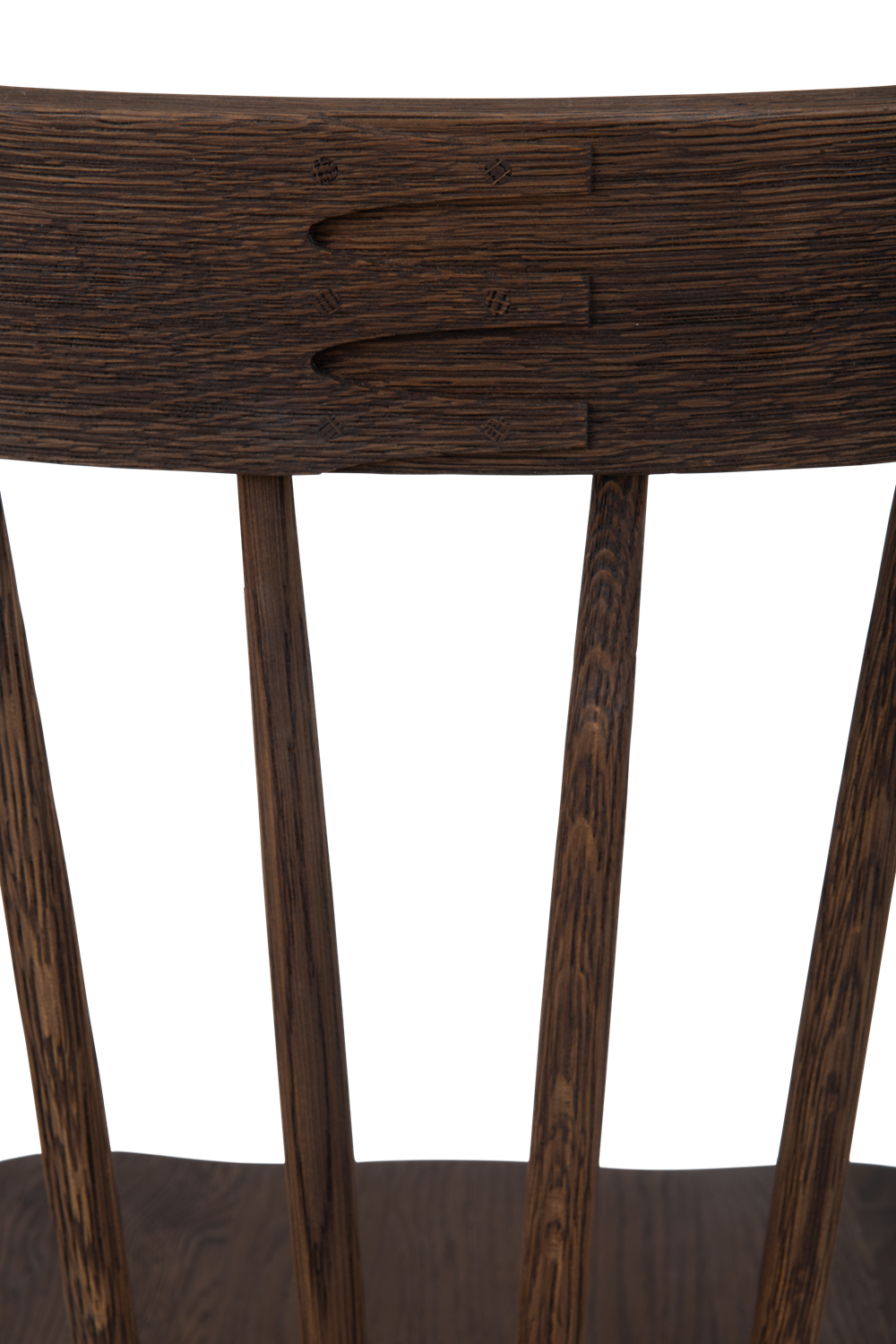 Wardley dining chair, darkened oak, detail copy