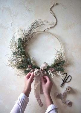 Norbury dried wreath