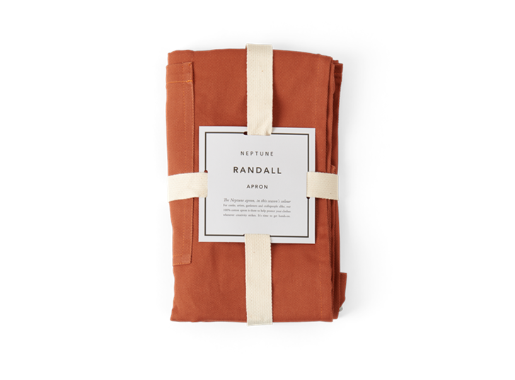 Randall apron, burnt sienna, packaged