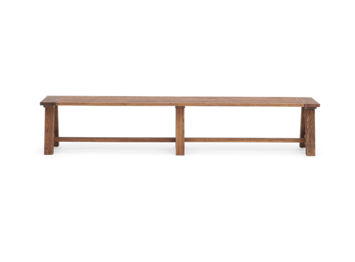 Arundel_220 Bench_Dark Oak_Front