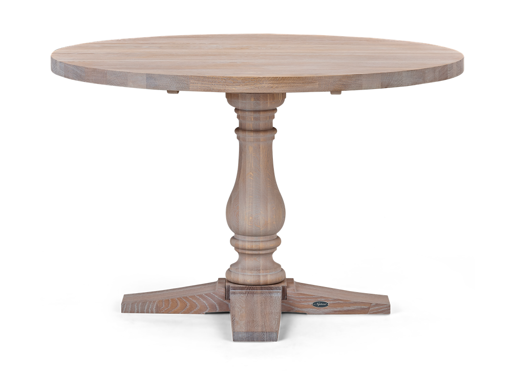Balmoral 120 Round Table_Seasoned Oak_Front